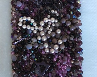 Purple Vintage Czech Glass and Crystal Lot - 555 grams!