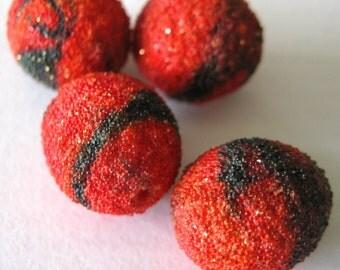 Vintage Red Sugar Beads  E207