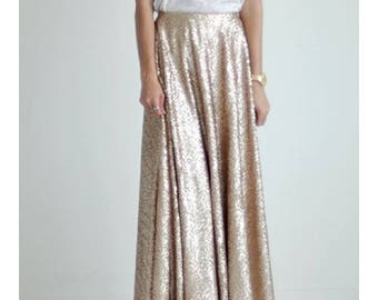 RESERVED for Jessica Pearce Bridal Party -  6 Custom Princess Sequin Skirts in Gold
