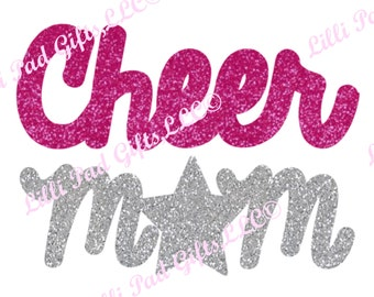 Cheer Mom - Cut File - Instant Download - SVG Vector JPG for Cameo Silhouette Studio Software & other Cutter Machines