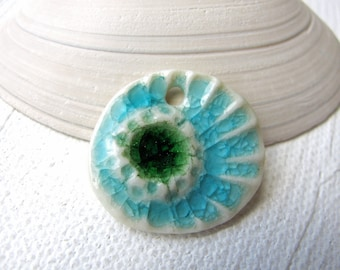Little Sea Anemone Pendant Stoneware Clay