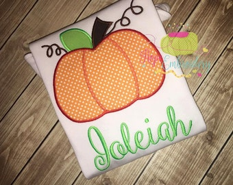 Fall Appliqued Pumpkin Shirt