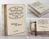 Ring bearer box, Wedding ring box, Personalized ring box, Ring bearer billow, Engagement ring box, Wedding ring holder Book box Jewellry box