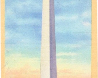 Washington DC, Washington Monument - Linen Postcard - Unused (N)