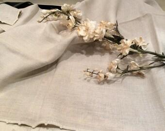 Homespun Table Cover Antique, Vintage Linen Tablecloth, Vintage Homespun Linen, Vintage Linens