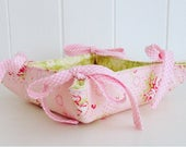 Floral Reversible Fabric Tray/Basket