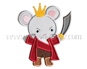 Mouse King Applique Design