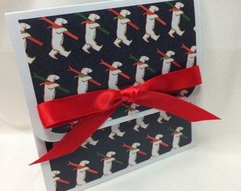 Skiing Polar Bear Christmas Gift Card Holder