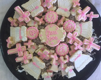 Baptism/Christening Cookies for tray