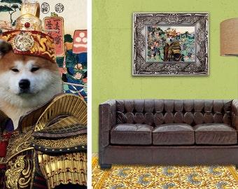 Akita Inu Art/Akita Inu CANVAS Print/Akita Inu Portrait/Akita Inu Custom Art/Dog Painting/Dog Art Print/Custom Dog Art By Nobility Dogs