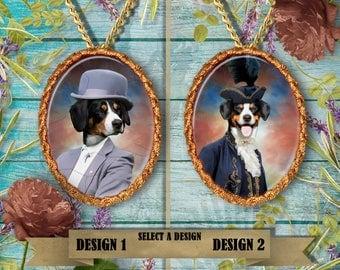 Entlebucher  Sennenhund\ Entlebucher Mountain Dog Jewelry. Entlebucher Pendant or Brooch. Entlebucher  Necklace. Entlebucher Portrait.
