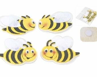 Bees Felt Applique 6 pcs