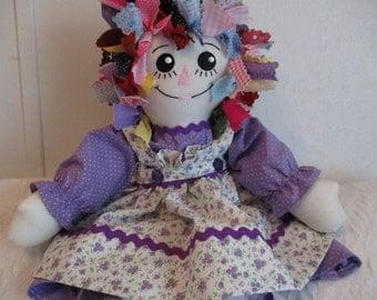 Handmade Rag Hair Raggedy Ann Doll