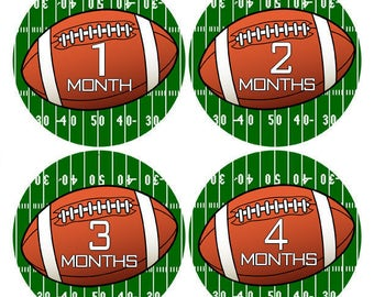 Football Baby Stickers, Football Bodysuit Stickers, Milestone Stickers, Football Closet Dividers, Monthly Age Stickers, Nursery Decor (650)