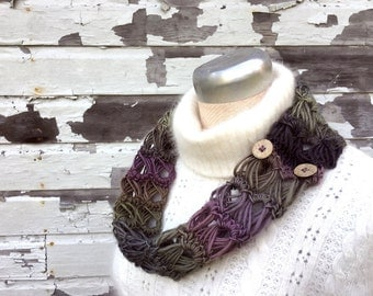 Ombre Lace Infinity Scarf  -  Six Color Options