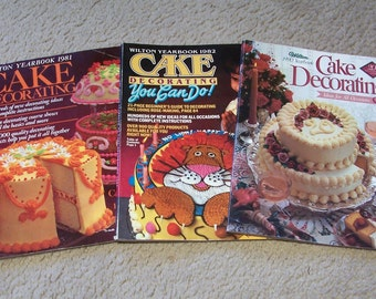 Wilton Cake Decorating Magazines - 1981, 1982, 1990