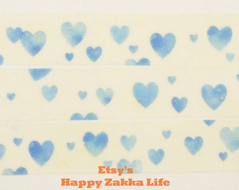 Aqua Heart - mt - Japanese Washi Masking Tape - 11 yard - No Discount