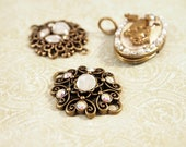 3 Pendants, Rhinestone Pendents, Focal Component, Jewelry Making Supplies, New Supply, New Pendent, Jewelry Supplies