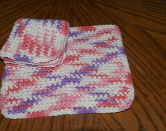 Set of 2  Crochet dishcloth  All Cotton