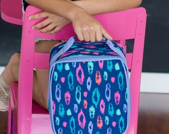 FREE Personalization ~ Personalized Lunch Bag ~ Personalized Lunch Tote ~ Girls Monogrammed Lunch Bag ~ Lainey Leopard Lunchbox ~ Quick Ship