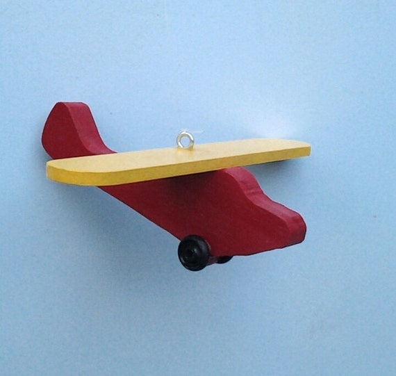 Airplane ornament piper cubairplanewooden