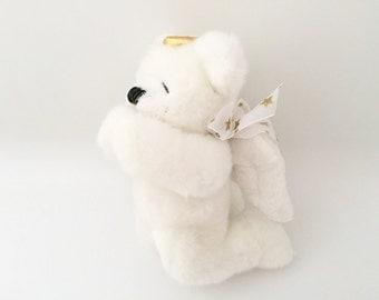 Ganz Teddy Bear - Christening Gift Boy or Girl - Vintage Teddy Bear Plush Toy Bear Plushie Religious Baby Gift Baby Shower - Birthday Decor