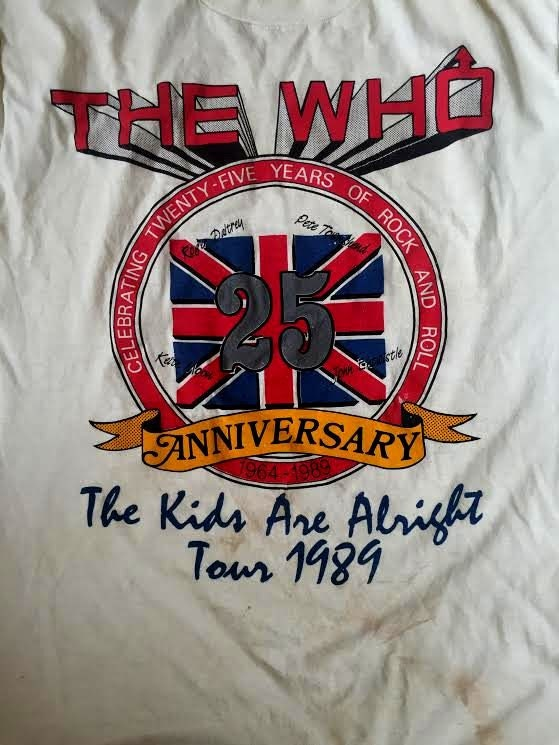 THE WHO 1989 Tour 25th Anniversary British Rock Faded Tee