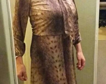 Vintage Animal Print Dress
