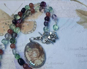Ghost Girl Fluorite Necklace