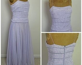 1960s Lavender Tulle Dress