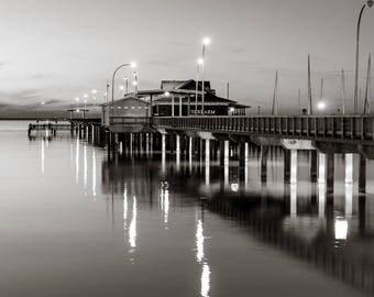 Night Life - Fine Art Print - Gulf Coast Pier - Beach