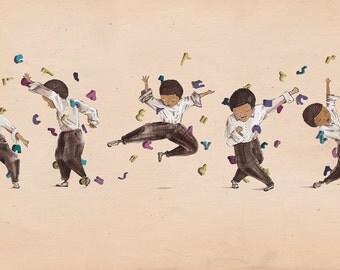 Jazz Dancing Johnny -  Illustration