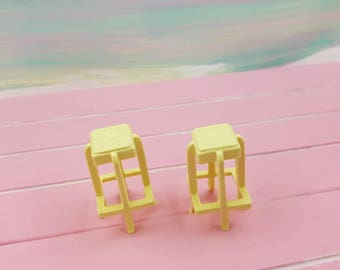 Marx  Kitchen Stools set of two yellow Contemporary