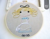 Embroidery Design  PDF Pattern Little Alice in Wonderland