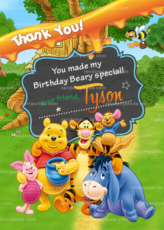 Winnie and the Pooh Party Invitation Tigger Birthday Invite – Tigger Birthday Party Invitations