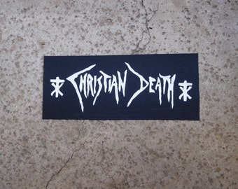 Christian death goth band sew on patch