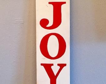 JOY Sign, Christmas Sign, Holiday Sign, Hand painted sign, Christmas Decor , Christmas Decorations