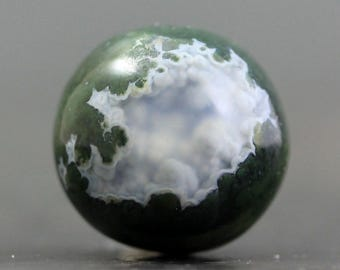 Marble, Sphere Moss Agate Crystal Polished Gemstone (CA7793)