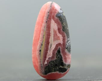 Stone of Love & Joy Loose Gemstone Pink Rhodochroiste Natural Gem Cabochon Wire Wrapping Bezel Setting Embroidery Semiprecious Gem (CA7841)