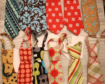 Boys neck ties size 0-9 months, you choose fabric.  Clearance, free shipping!