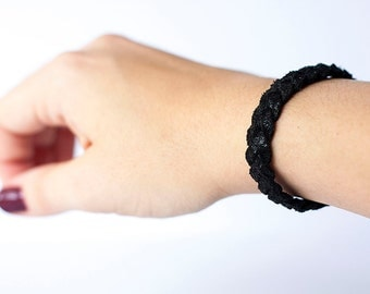 Braided Leather Bracelet / Outer Space