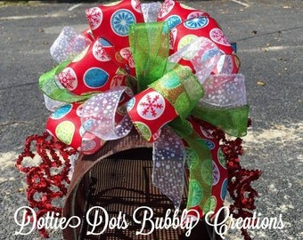 Whimsical Snowflake Design Mailbox Topper, Whimsy Mailbox Topper, Whimsical Mailbox Topper, Mailbox Decor