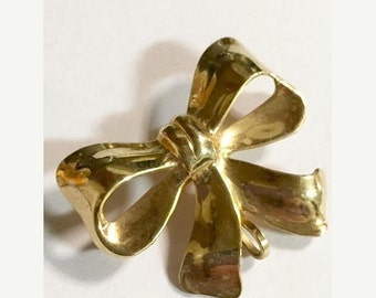 Vintage 12KT Gold Filled Bow Pin/Brooch by Van Dell