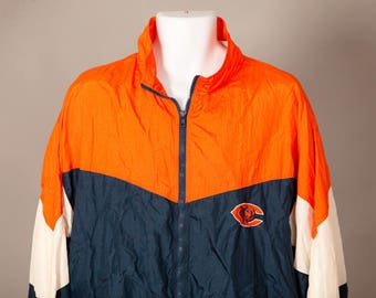 Vintage 80s 90s Chicago BEARS Windbreaker - Team NFL Color Works - XL