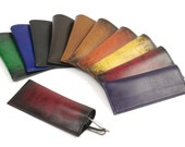 Lined Leather Glasses Case