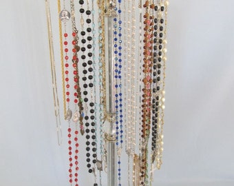 Long Neckace/Rosary Bead Display Stand | 1930's Waterfall Glass | Necklace Holder | 5 Arms  | Revolving | Store Display | Gifts for Her
