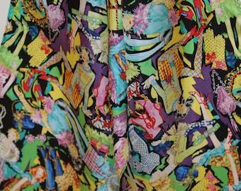 Vintage Designer 100% Silk Scarf - Sydney Love - Multi Colors - Design of Ladies Accessories