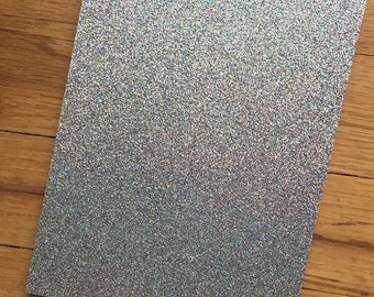 Silver irridescent cardstock// 4 3/4x6 3/4