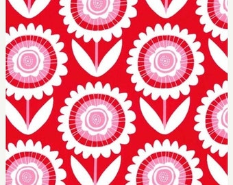 ON SALE Michael Miller Fabric by the yard Hello Sunshine in Red 1 yard