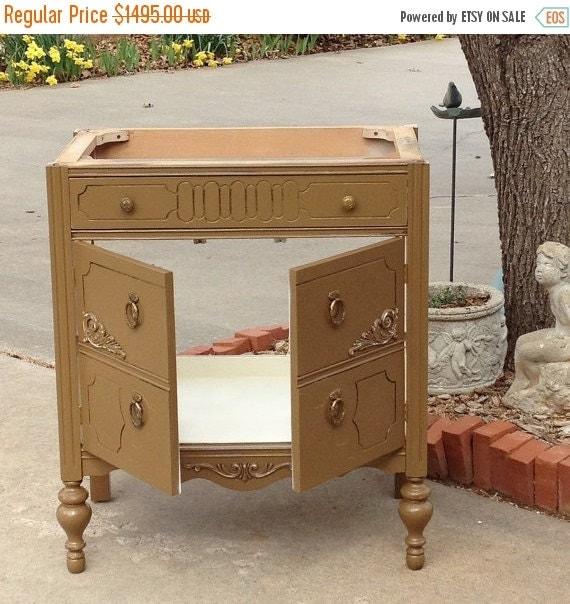 On sale antique dresser bath vanity cabinet by redbarnestates - Antique bathroom vanities for sale ...